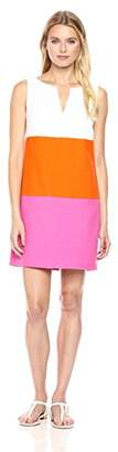 Trina Turk Women's Miss Brady Colorblock Slub Cotton Dress