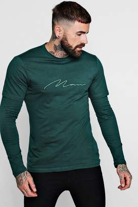 boohoo Faux Layer MAN Signature T-Shirt
