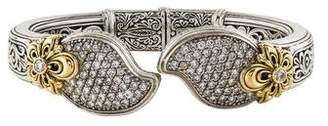 Konstantino Diamond Arsinoe Hinged Bracelet