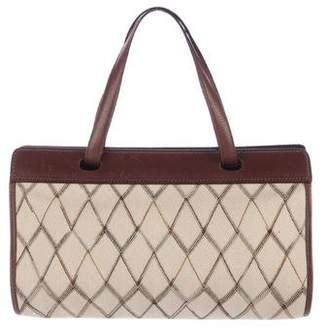 Missoni Leather-Trimmed Canvas Bag