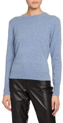 Altuzarra Cashmere Lace-Up Back Crewneck Sweater