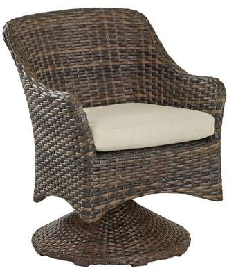 Pottery Barn Abrego All-Weather Wicker Swivel Rock Dining Armchair