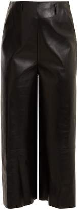 Lanvin High-rise leather culottes