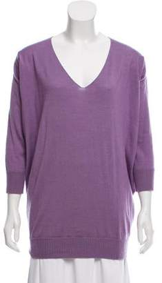 Alberta Ferretti Virgin Wool & Cashmere-Blend Sweater