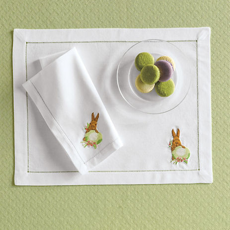 Gump's Embroidered Easter Table Linens