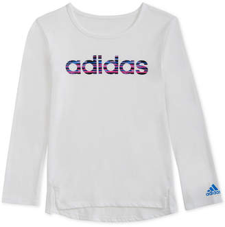 adidas Little Girls Logo-Graphic Shirt