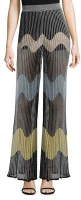 M Missoni Wave Intarsia Mesh Rib Pants