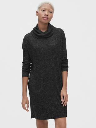 Gap Softspun Ribbed Cowl-Neck Sweater Dress