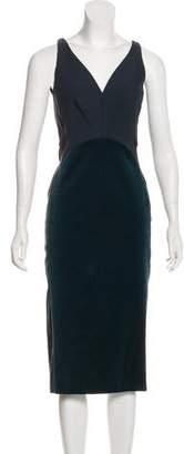 Stella McCartney Velvet-Paneled Colorblock Dress