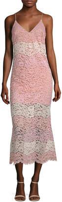 ABS by Allen Schwartz Lace Midi Dress