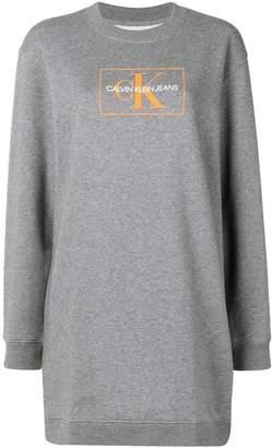 Calvin Klein Jeans logo sweatshirt dress