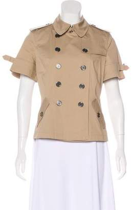 Burberry Double-Breasted Short Sleeve Jacket