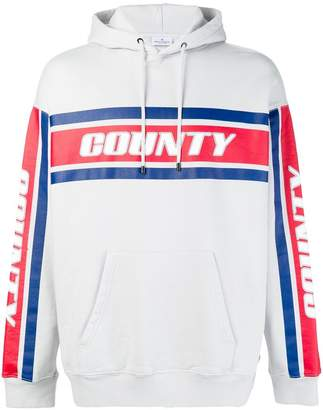 Marcelo Burlon County of Milan logo colour block hoodie