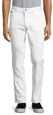 Calvin Klein Slim Straight-Leg Five-Pocket Jeans