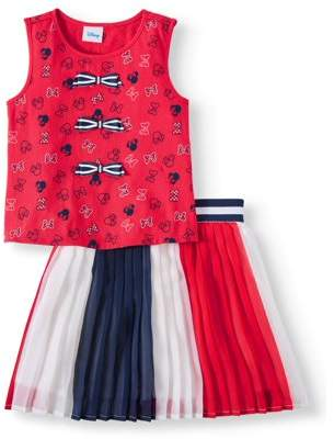 Minnie Mouse Bow Tank and Pleated Skirt, 2-Piece Outfit Set (Little Girls & Big Girls)