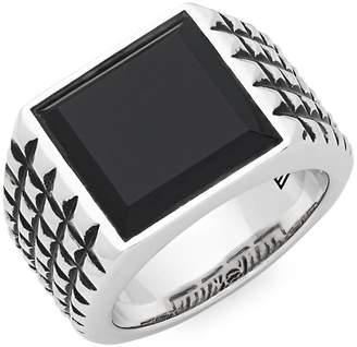 Effy Men's Men's Black Onyx and Sterling Silver Square Ring