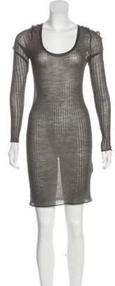 J Brand Rib Knit Long Sleeve Dress