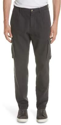 Eleventy Stretch Canvas Cargo Pants