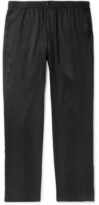 Stussy Black Bryan Snake-Print Jersey Trousers