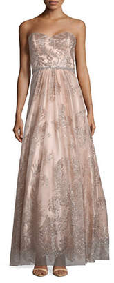 Cachet Embellished Strapless Gown