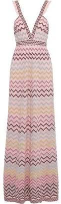 M Missoni Cutout Metallic Crochet-knit Maxi Dress