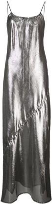 Lisa Marie Fernandez metallic effect sheer dress