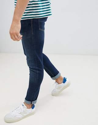 Jack and Jones Jeans In Slim Fit Rinsed Blue Denim