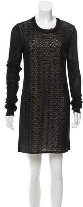 Diane von Furstenberg Open Knit Lace Dress