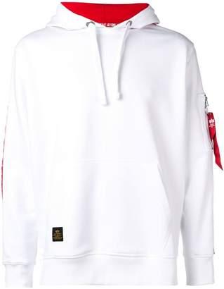 Alpha Industries side stripe hoodie
