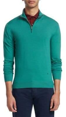 Isaia Half-Zip Wool Sweater
