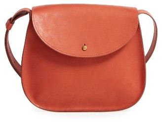 Madewell Leather Shoulder Bag - Orange $148 thestylecure.com