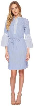 Lauren Ralph Lauren Striped Cotton Shirtdress Women's Dress