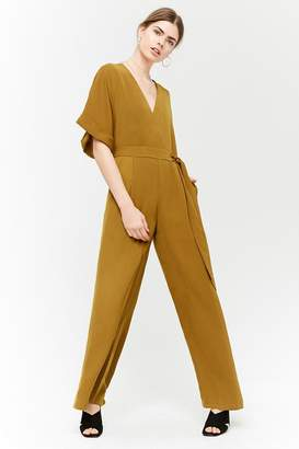 1db368fcde0b at Forever 21 · Forever 21 Surplice Wide-Leg Jumpsuit