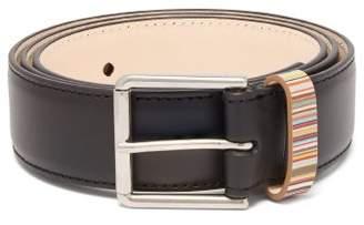 Paul Smith Signature Stripe Keeper Leather Belt - Mens - Black