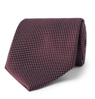 Ermenegildo Zegna 8cm Textured-Silk Tie