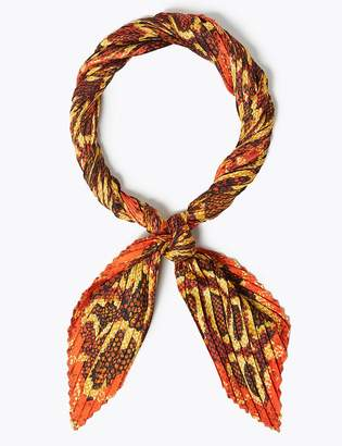 Marks and Spencer Pleated Snake Print Neckerchief