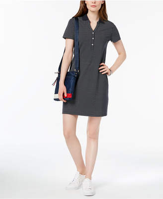 Tommy Hilfiger Dot-Print Polo Dress, Created for Macy's