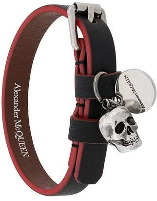 Alexander McQueen buckled skull charm bracelet