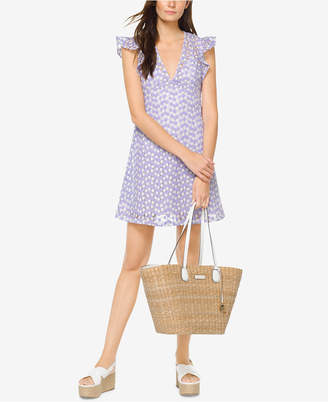 Michael Kors MICHAEL Floral Embroidered A-Line Dress