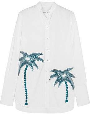 Victoria Victoria Beckham Embroidered Cotton Shirt