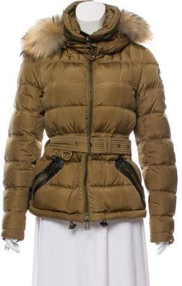 Belstaff Leather-Accented Puffer Coat