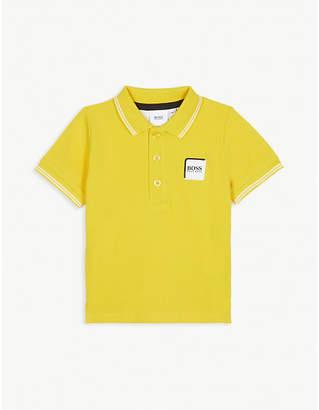 BOSS Logo pique cotton polo 4-14 years