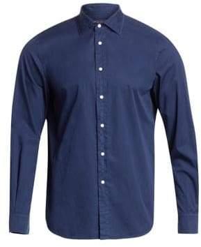 Ralph Lauren Purple Label Fine Twill Plaid Button-Down Shirt