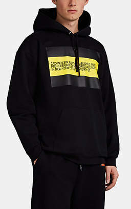 Calvin Klein Jeans Est. 1978 Men's Logo Cotton-Blend Terry Hoodie - Black