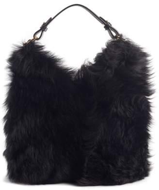 Anya Hindmarch Mini Build a Bag Genuine Shearling & Leather Base Bag