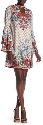 Flying Tomato Tiered Long Sleeve Print Dress