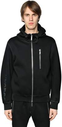 DSQUARED2 Hooded Printed Viscose Jersey Sweatshirt