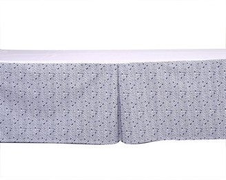 Bacati Tribal Grid Navy Tailored with 100% Cotton Percale 13 inch drop Crib/Toddler Bed Skirt