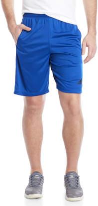 adidas Blue D2M 3-Stripe Shorts