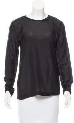 Yigal Azrouel Contrasted Long Sleeve Top